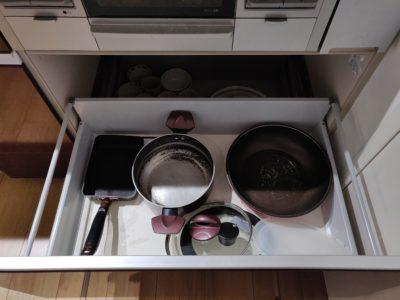 キッチン収納コンロ下